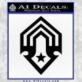 Halo Corbulo Academy of Military Science Logo Decal Sticker Black Vinyl 120x120