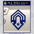 Halo Corbulo Academy of Military Science Logo Decal Sticker Blue Vinyl 120x120