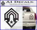 Halo Corbulo Academy of Military Science Logo Decal Sticker Carbon FIber Black Vinyl 120x97