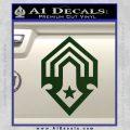 Halo Corbulo Academy of Military Science Logo Decal Sticker Dark Green Vinyl 120x120