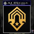 Halo Corbulo Academy of Military Science Logo Decal Sticker Gold Vinyl 120x120
