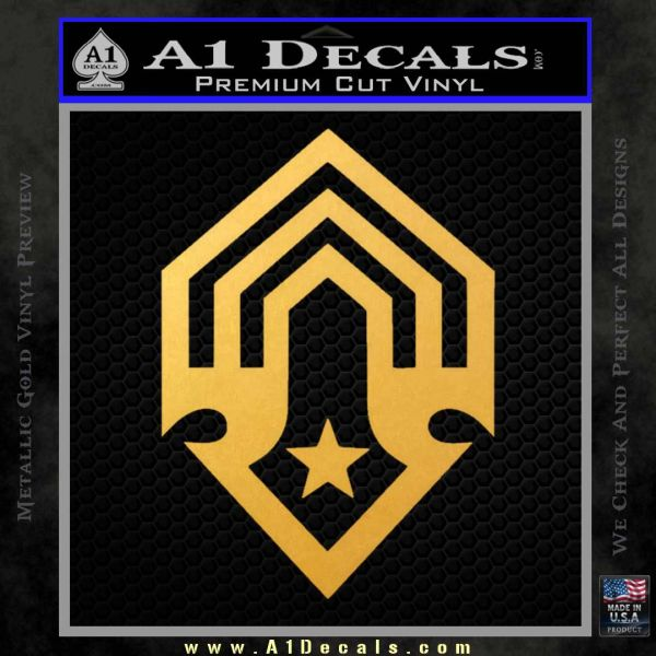 Halo Corbulo Academy of Military Science Logo Decal Sticker Gold Vinyl