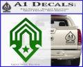 Halo Corbulo Academy of Military Science Logo Decal Sticker Green Vinyl Logo 120x97
