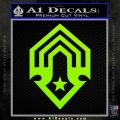 Halo Corbulo Academy of Military Science Logo Decal Sticker Lime Green Vinyl 120x120