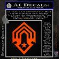 Halo Corbulo Academy of Military Science Logo Decal Sticker Orange Emblem 120x120