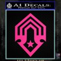 Halo Corbulo Academy of Military Science Logo Decal Sticker Pink Hot Vinyl 120x120