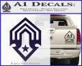 Halo Corbulo Academy of Military Science Logo Decal Sticker PurpleEmblem Logo 120x97