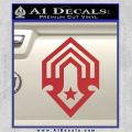 Halo Corbulo Academy of Military Science Logo Decal Sticker Red 120x120