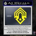 Halo Corbulo Academy of Military Science Logo Decal Sticker Yellow Laptop 120x120