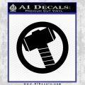 Hammer Decal Sticker Black D2 Vinyl Black 120x120