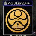 Hawaiian Islands Creation Decal Sticker Gold Vinyl 120x120