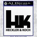Heckler Koch Decal Sticker Black Vinyl 120x120