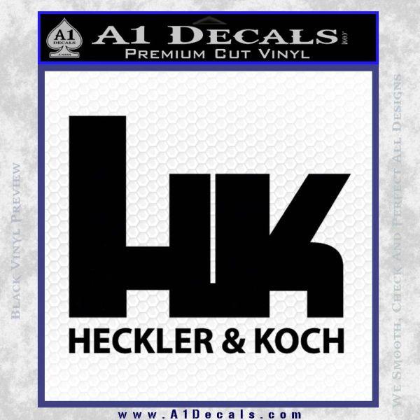 Heckler Koch Decal Sticker Black Vinyl
