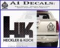 Heckler Koch Decal Sticker Carbon FIber Black Vinyl 120x97