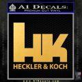Heckler Koch Decal Sticker Gold Vinyl 120x120