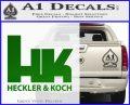 Heckler Koch Decal Sticker Green Vinyl Logo 120x97