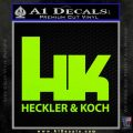 Heckler Koch Decal Sticker Lime Green Vinyl 120x120