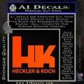 Heckler Koch Decal Sticker Orange Emblem 120x120
