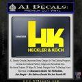 Heckler Koch Decal Sticker Yellow Laptop 120x120