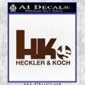 Heckler Koch Js Hk Decal Sticker BROWN Vinyl 120x120