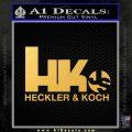 Heckler Koch Js Hk Decal Sticker Gold Vinyl 120x120