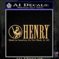 Henry Firearms Decal Sticker Gold Vinyl 120x120