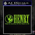 Henry Firearms Decal Sticker Lime Green Vinyl 120x120