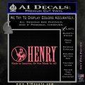 Henry Firearms Decal Sticker Pink Emblem 120x120