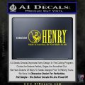 Henry Firearms Decal Sticker Yellow Laptop 120x120