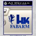 Hk Fabarm Firearms Decal Sticker Blue Vinyl Black 120x120
