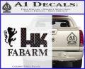 Hk Fabarm Firearms Decal Sticker CFB Vinyl Black 120x97