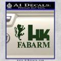 Hk Fabarm Firearms Decal Sticker Dark Green Vinyl Black 120x120
