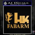 Hk Fabarm Firearms Decal Sticker Gold Metallic Vinyl Black 120x120