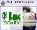 Hk Fabarm Firearms Decal Sticker Green Vinyl Black 120x97