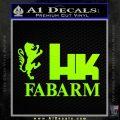 Hk Fabarm Firearms Decal Sticker Neon Green Vinyl Black 120x120