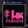 Hk Fabarm Firearms Decal Sticker Neon Pink Vinyl Black 120x120