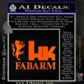 Hk Fabarm Firearms Decal Sticker Orange Emblem Black 120x120