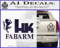Hk Fabarm Firearms Decal Sticker Purple Vinyl Black 120x97
