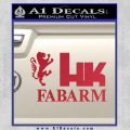 Hk Fabarm Firearms Decal Sticker Red Vinyl Black 120x120