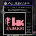 Hk Fabarm Firearms Decal Sticker Soft Pink Emblem Black 120x120
