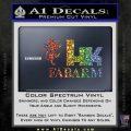 Hk Fabarm Firearms Decal Sticker Spectrum Vinyl Black 120x120