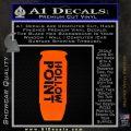 Hollow Point Bullet Decal Sticker Orange Emblem Black 120x120