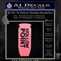 Hollow Point Bullet Decal Sticker Soft Pink Emblem Black 120x120