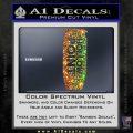 Hollow Point Bullet Decal Sticker Spectrum Vinyl Black 120x120