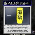 Hollow Point Bullet Decal Sticker Yellow Vinyl Black 120x120