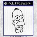 Homer Mr Sparkle Decal Sticker Black Vinyl Black 120x120