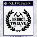 Hunger Games Decal Sticker Black District 12 Vinyl Black 120x120