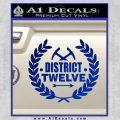 Hunger Games Decal Sticker District 12 Blue Vinyl Black 120x120