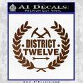 Hunger Games Decal Sticker District 12 Brown Vinyl Black 120x120