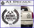 Hunger Games Decal Sticker District 12 CFB Vinyl Black 120x97